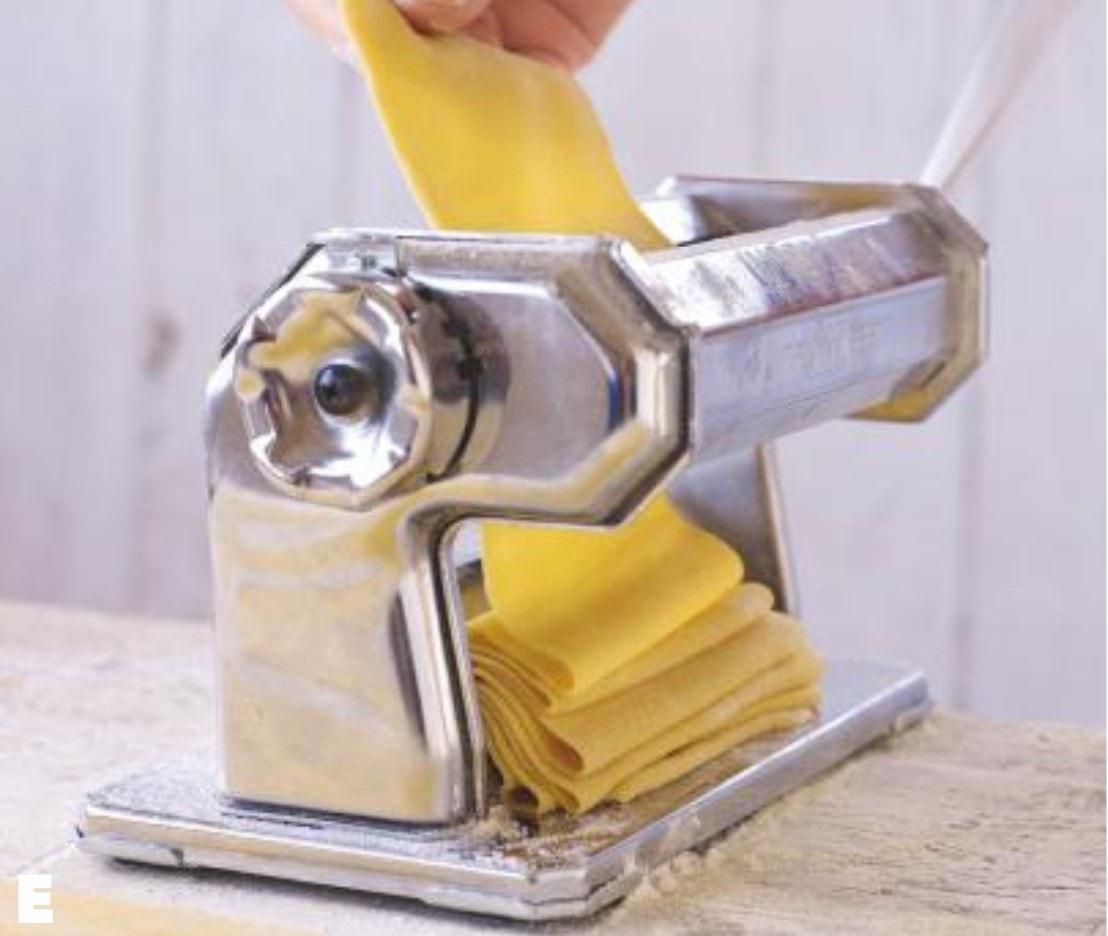 Narrow the pasta machine setting by a notch