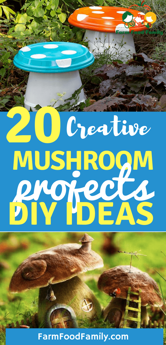 Here are 20 Creative DIY decorative garden mushroom projects that will impress your guests and make you smile every time you look at them.