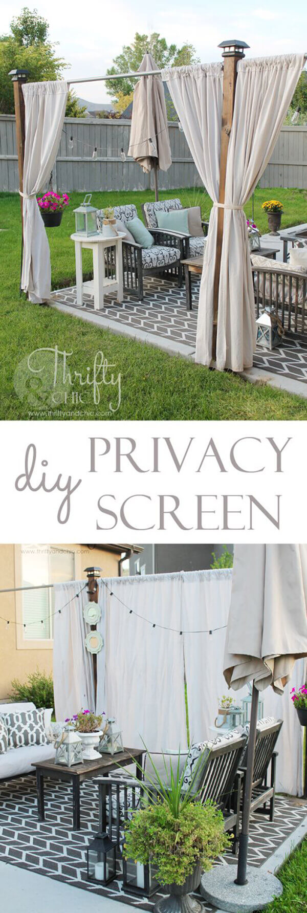 Backyard Shade and Privacy Curtains