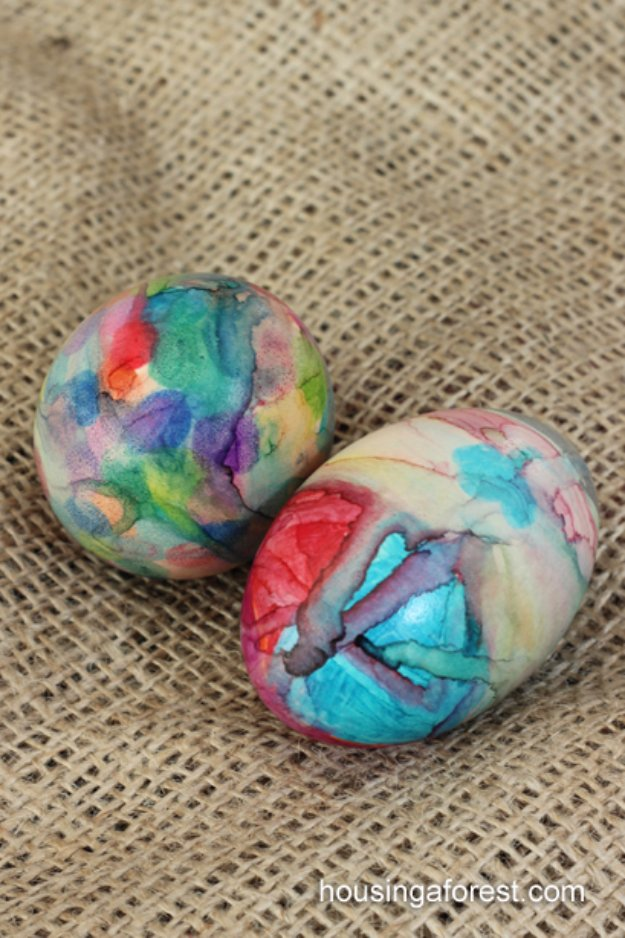 Sharpie Tie Dye Easter Eggs