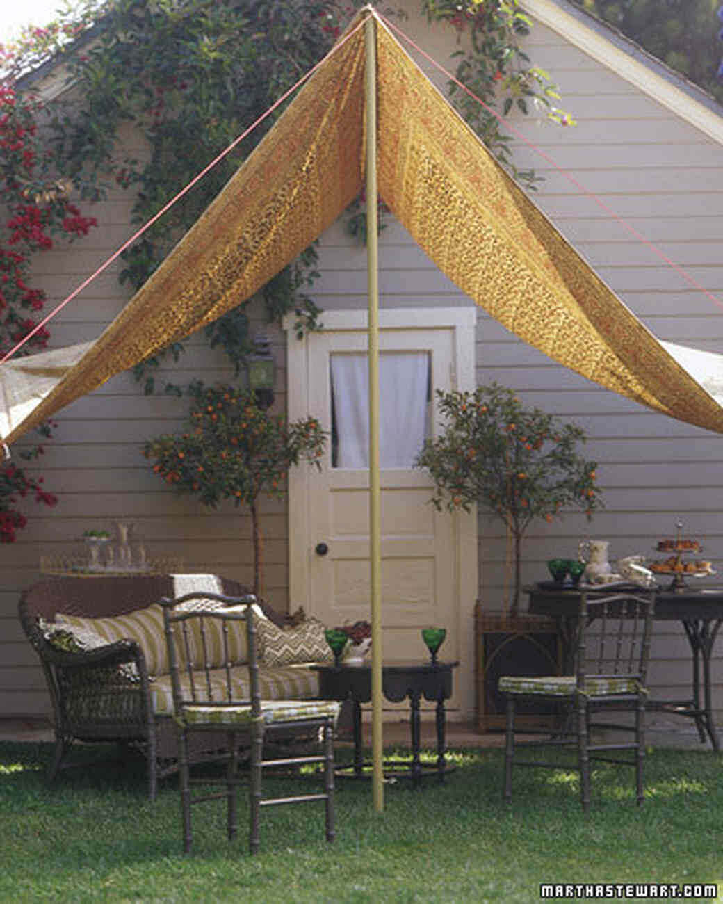 Fun and Funky Outdoor Seating Shade