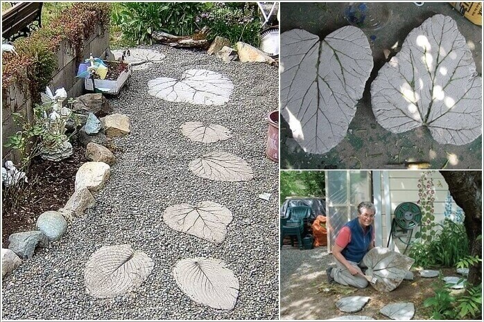 Leaf Inspired Stepping Stones