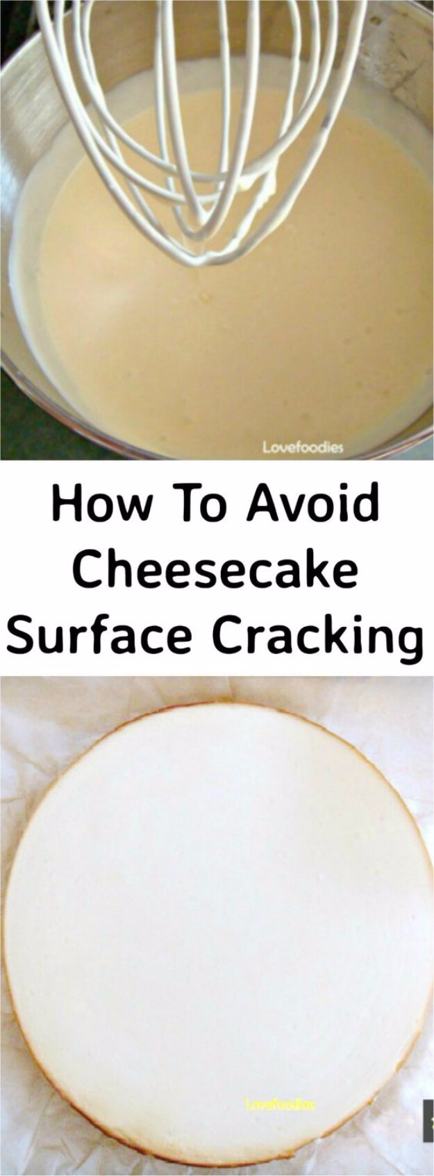 Avoid Cheesecake Surface Cracking