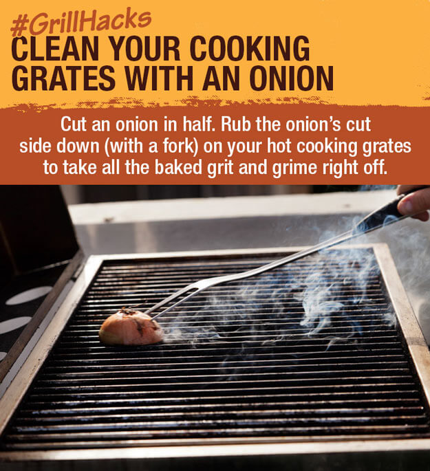 Clean Your Grill With An Onion