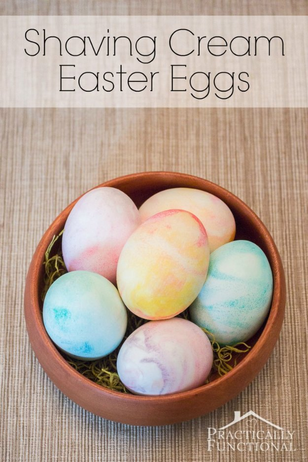 How To Make Shaving Cream Easter Eggs