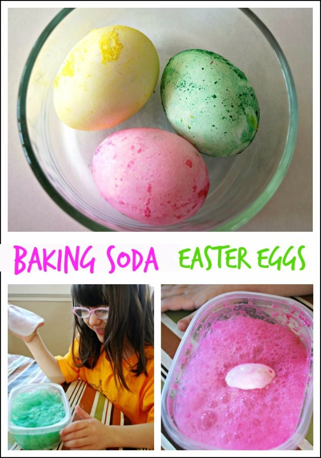 Baking Soda Easter Eggs