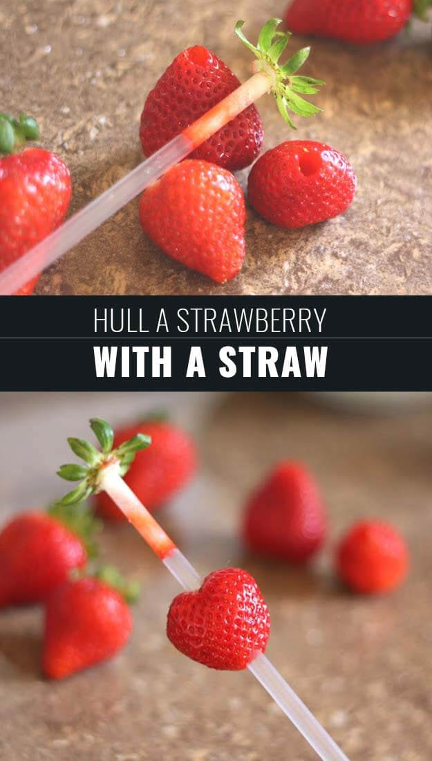 Hull A Strawberry With A Straw
