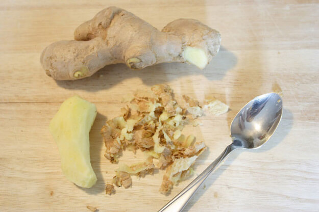 Peel Ginger With A Spoon