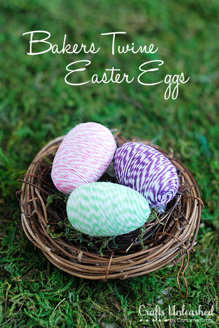 Mini Baker's Twine Easter Eggs