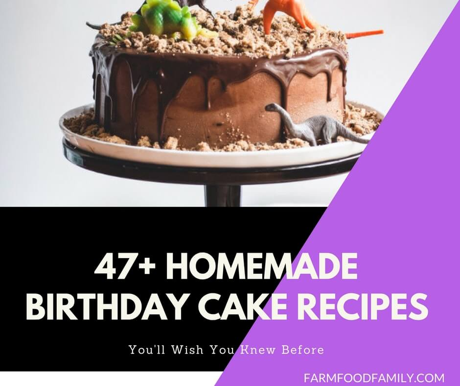 Awesome 47 Best Homemade Birthday Cake Recipes For Your Kids Personalised Birthday Cards Paralily Jamesorg
