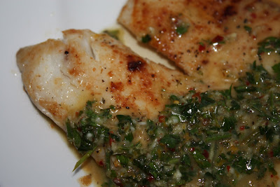 Pan Fried Tilapia with Bonefish Grill's Chimichurri Sauce