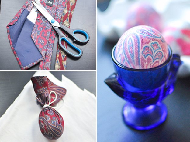 Dye Easter Eggs Using Old Silk Ties