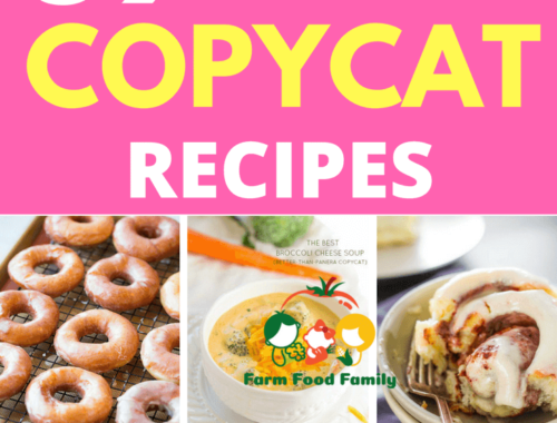 You're looking for copycat recipes from restaurants? Here are 59+ of the best copycat recipes that we collected from our friends. All recipes are free, and you can see is your favorite restaurant recipe is here.