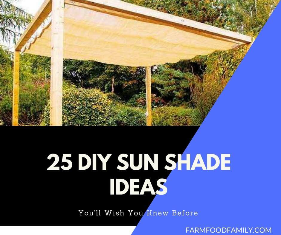 22 Easy DIY Sun Shade Ideas for your Beautiful Backyard