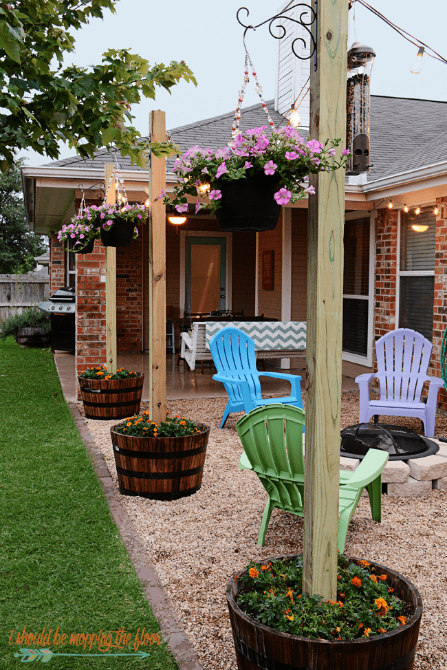Playful Mix and Match Seating and Fire Pit