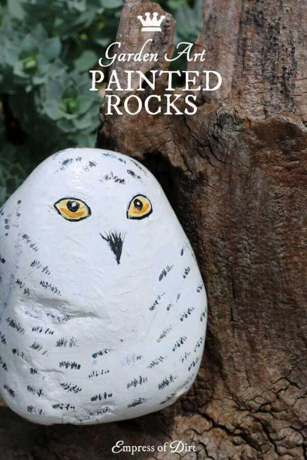 Paint Your Own Owl Rock