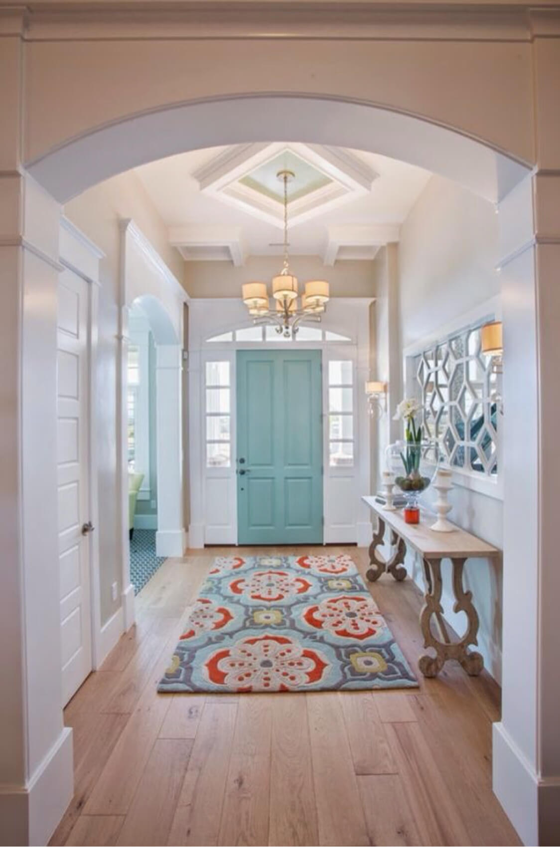 A Bright Rug Adds Interest
