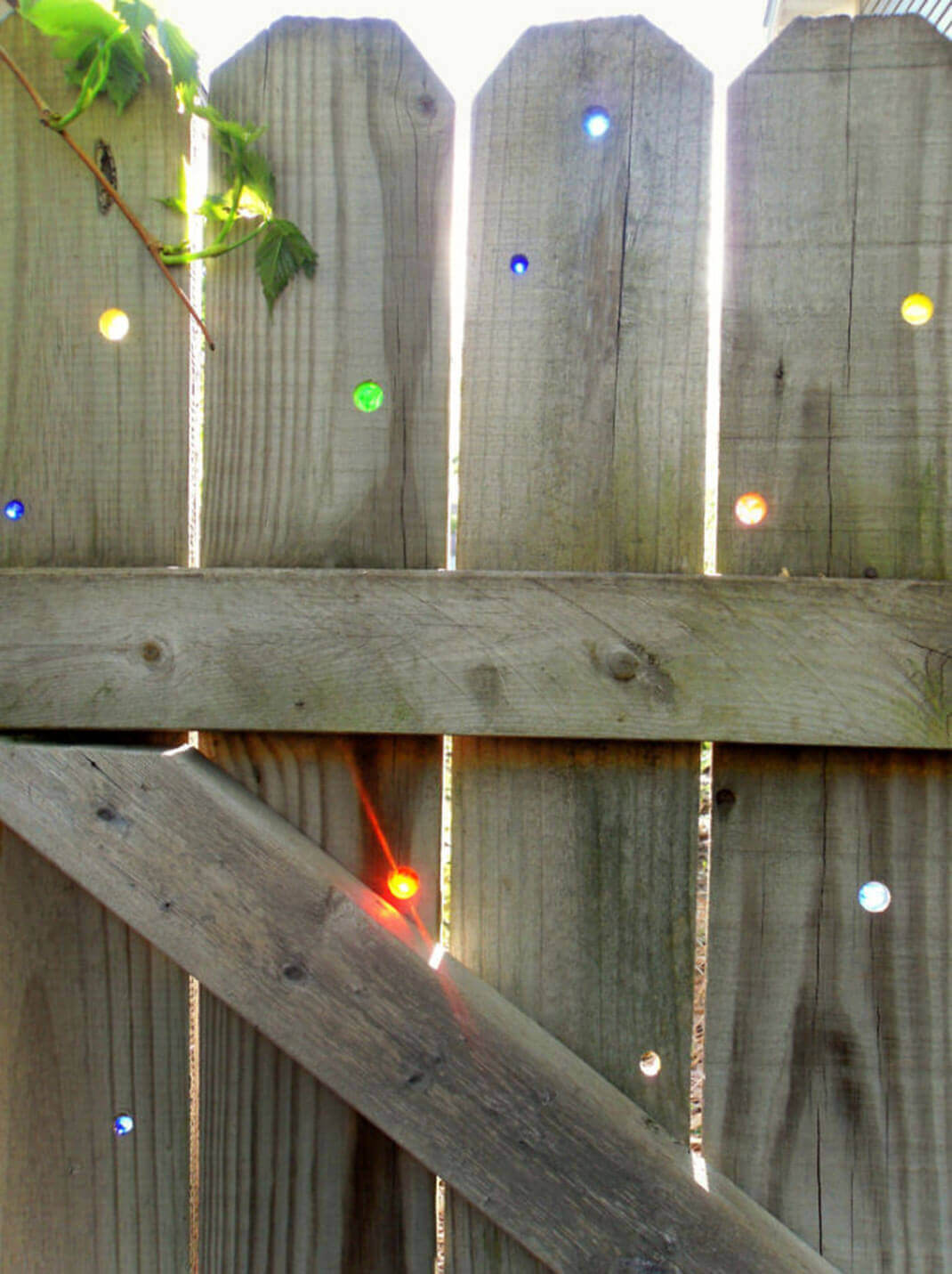 Fill in Fence Holes with Glass Gems