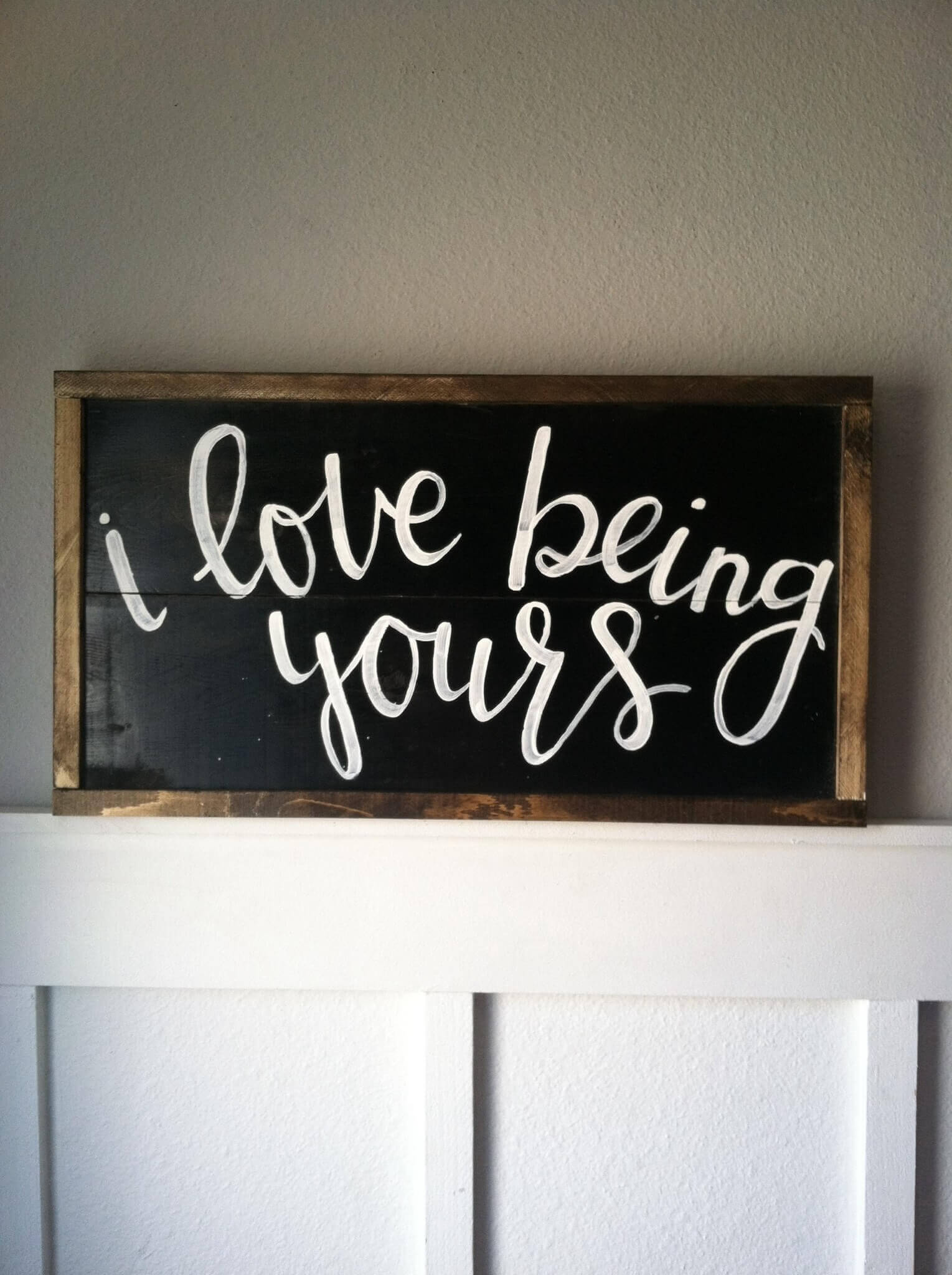 Being Yours Chalkboard Wall Accent