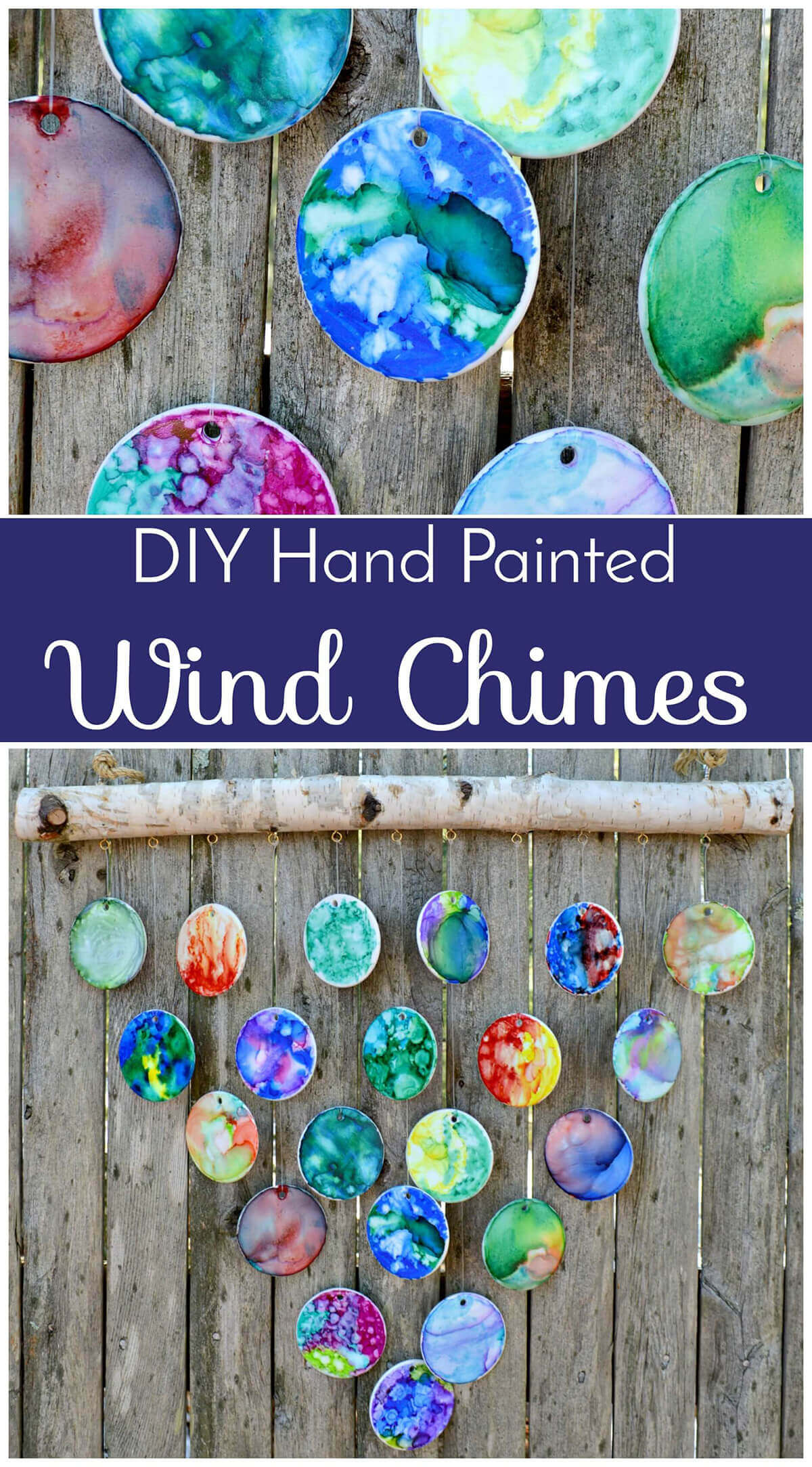 Colorful Clay Disks for Wind Chimes