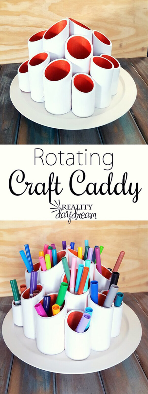 Chic and Simple Spinning Craft Caddy