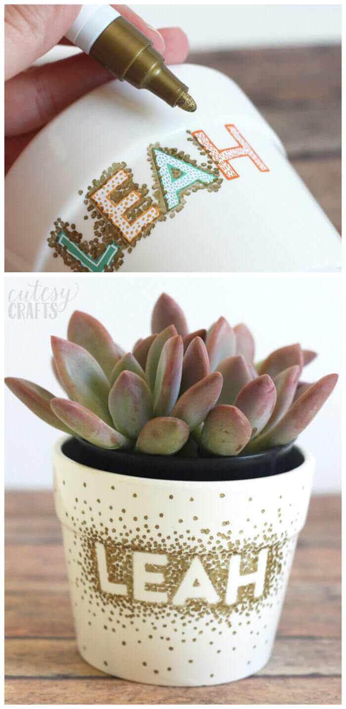 Customized DIY Flower Pots for Kids