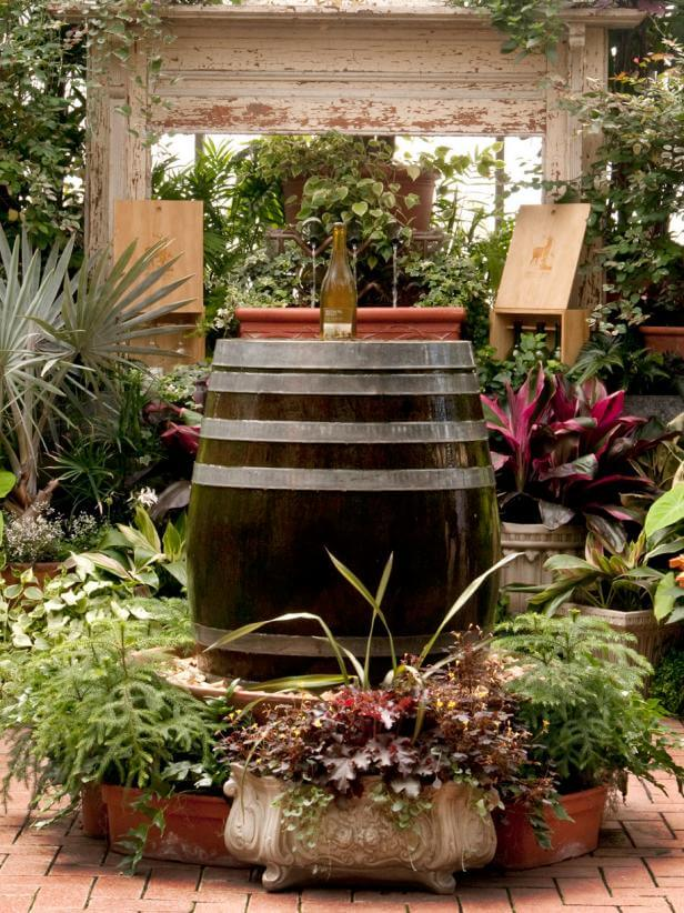 Vineyard Inspired Barrel Fountain | Six Mistakes to Avoid When Landscaping
