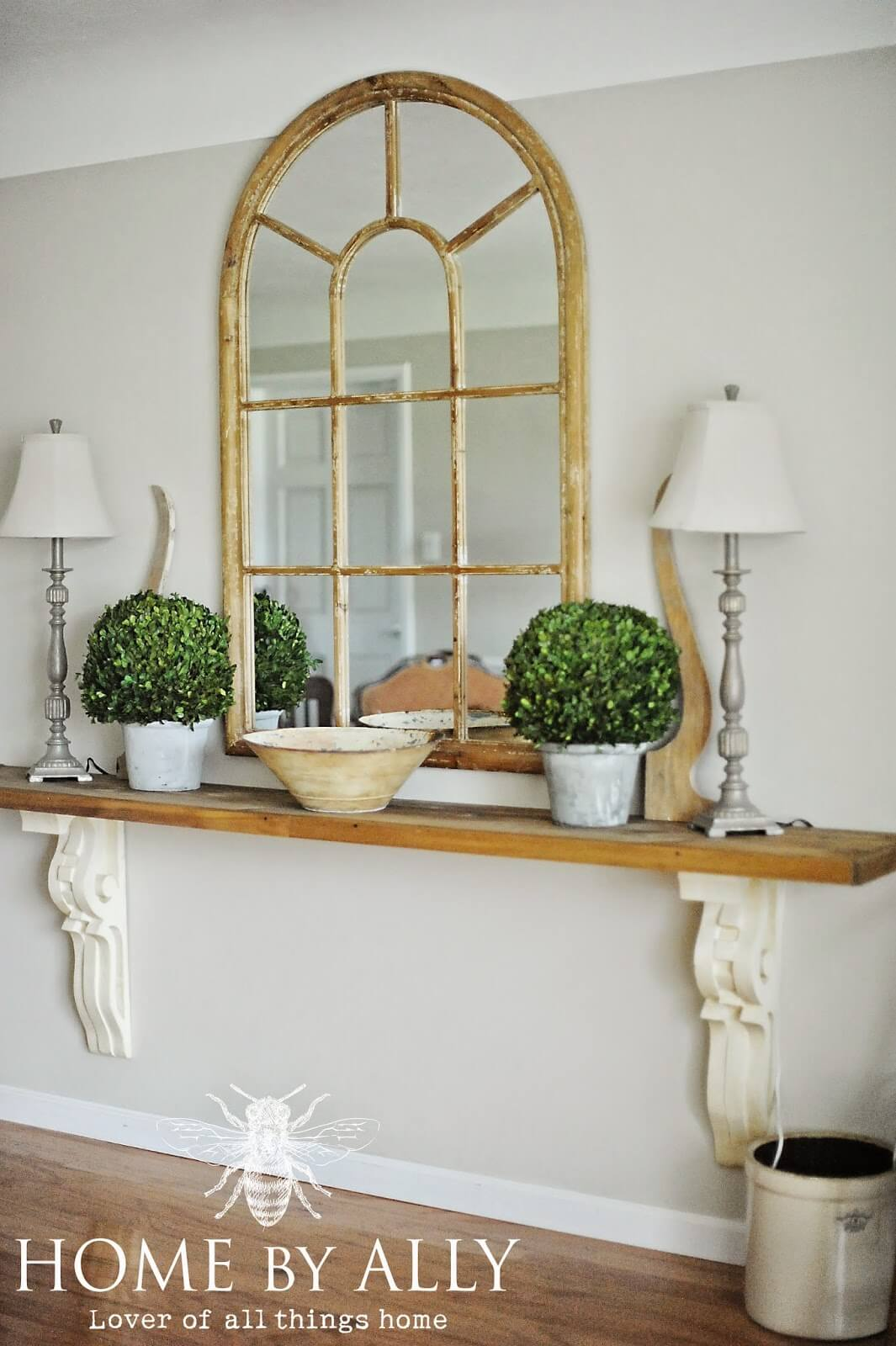 Save Space with an Oversized Shelf