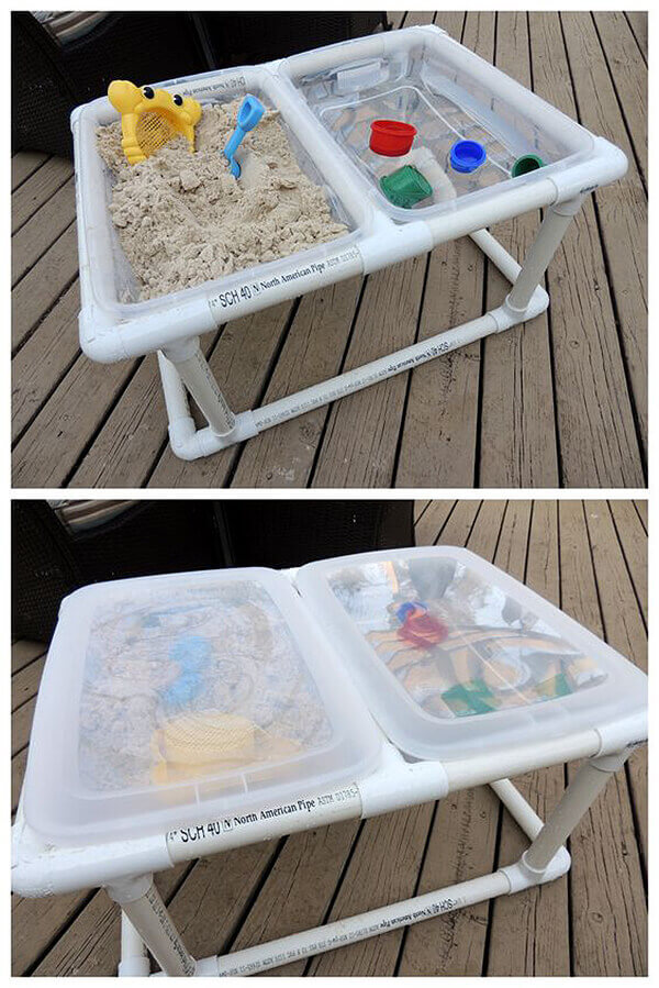 Double-Fun Two Compartment Sensory Play Table