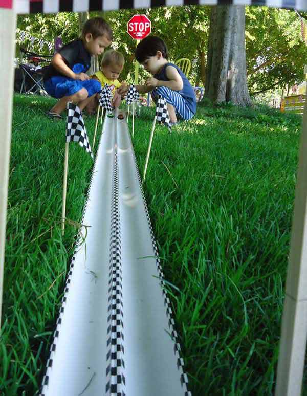 Go for a DIY cars race track