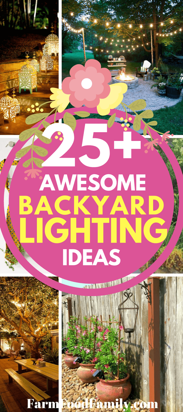 Check out 25+ Awesome lighting ideas for your backyard #backyard #gardenideas #lightingideas #homedecor #farmfoodfamily