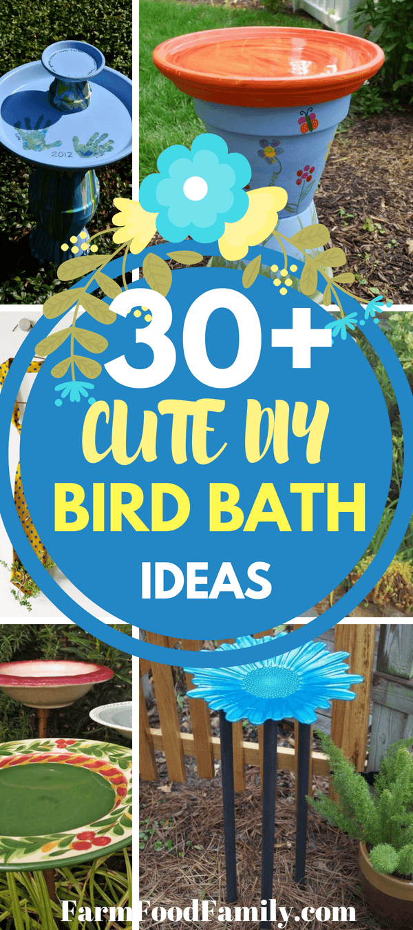 To make a DIY bird bath, all you need are a few simple materials and some creativity. So try 30+ Easy and Beautiful DIY Bird Bath Ideas to Enhance Your Yard.