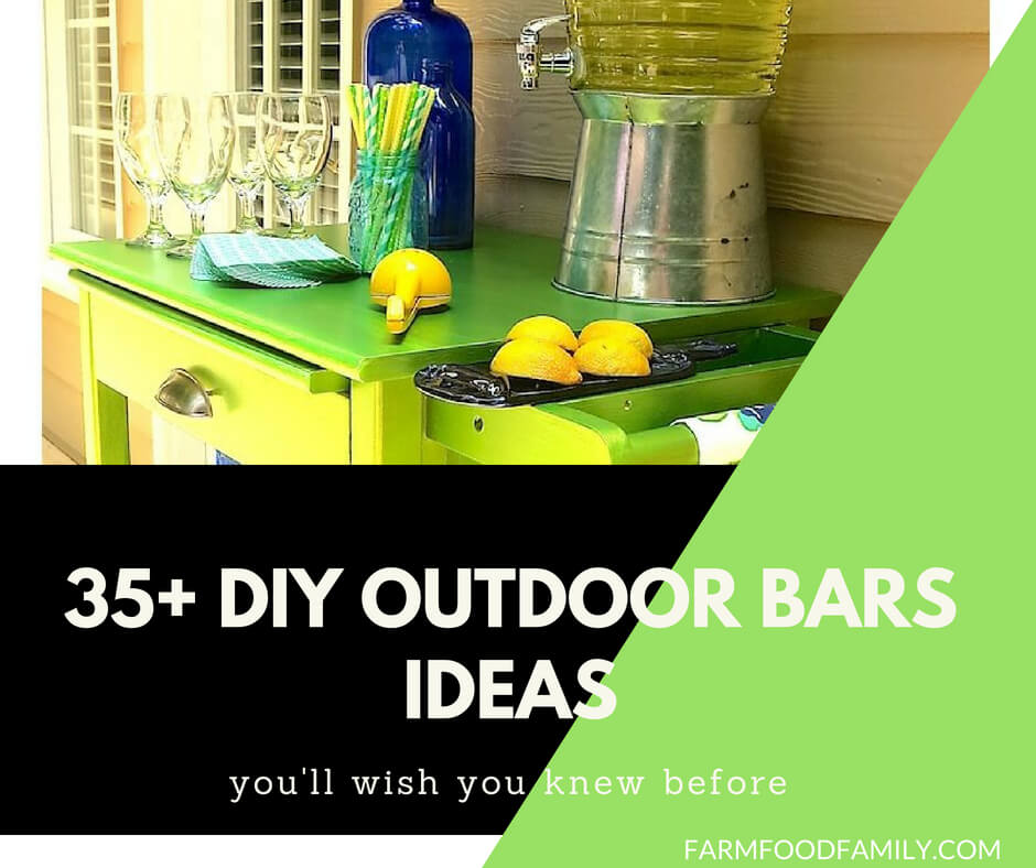 35+ Creative and Cheap DIY Outdoor Bar Ideas You Need To Try