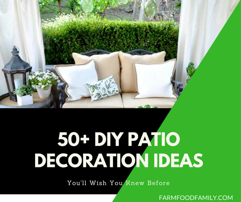 50+ DIY Patio Decoration Ideas