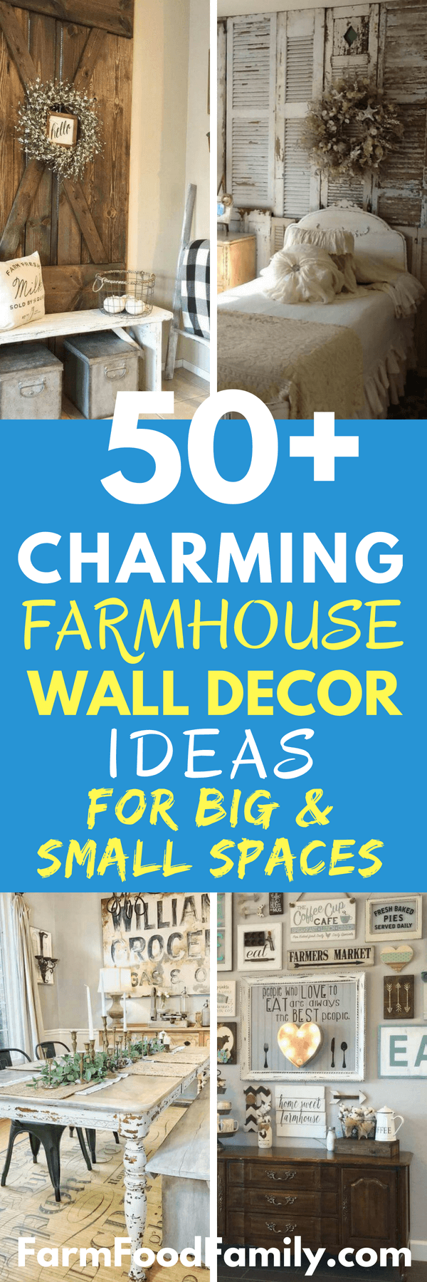 Lighting, mirrors, and shelves also offer solutions that are both pretty and practical. Get ready to cop some great farmhouse wall decor ideas. Ingenious lighting solutions? Check. Elegant architectural salvage projects? Check