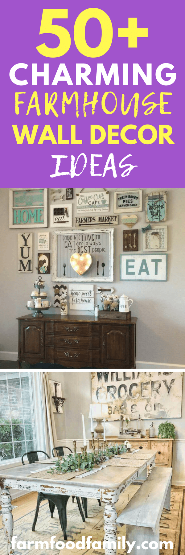 New rustic sign designs and unexpected ways to use mason jars? Check and check. Whether you're looking to add a single piece to an existing interior or want tomake over an entire wall, the following list is sure to have a stylish suggestion.