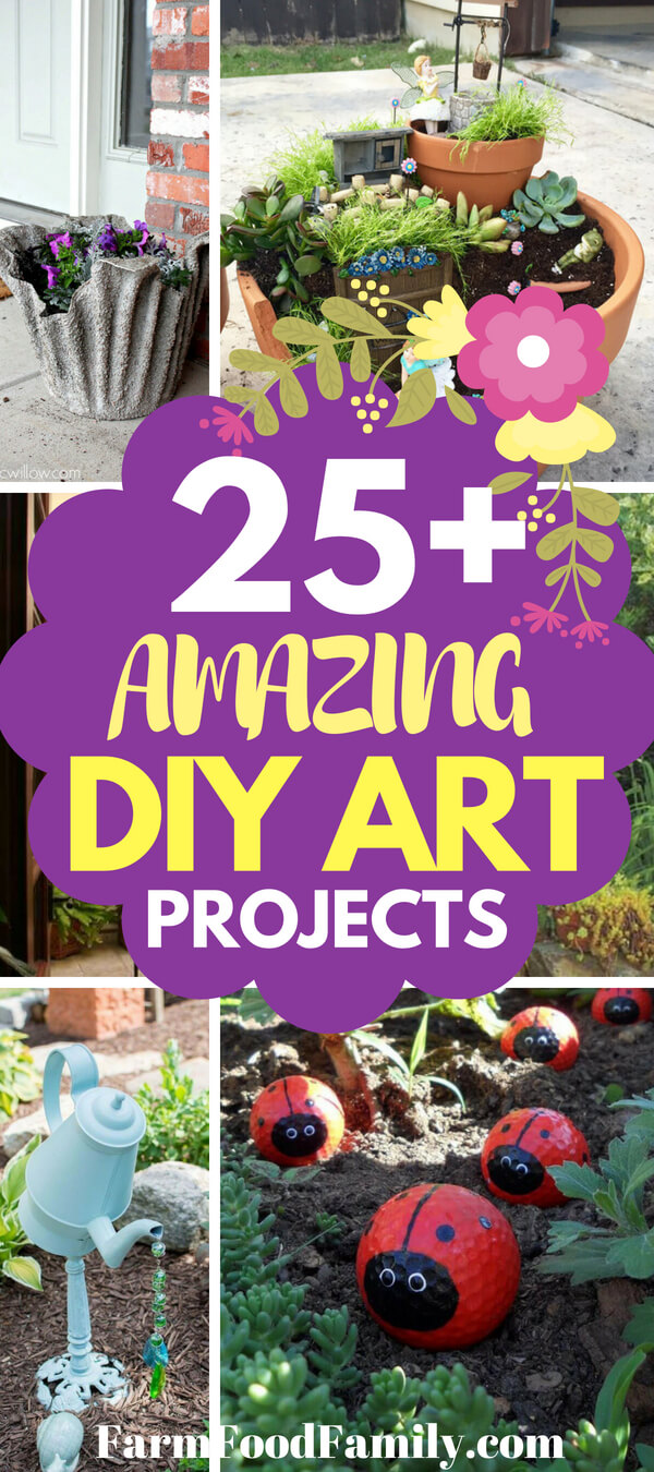 Choose a project based on your skill level and the style of your garden. If you have a cottage garden, you might enjoy making a sweet little fairy house. If your garden is more bold and modern, try making copper flowers. If you have a dark corner in your garden that you'd like to brighten up, make a DIY water drop light.
