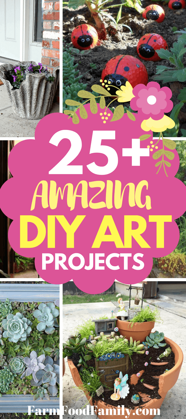 Charming Garden Art Diy Projects Gallery Ideas House