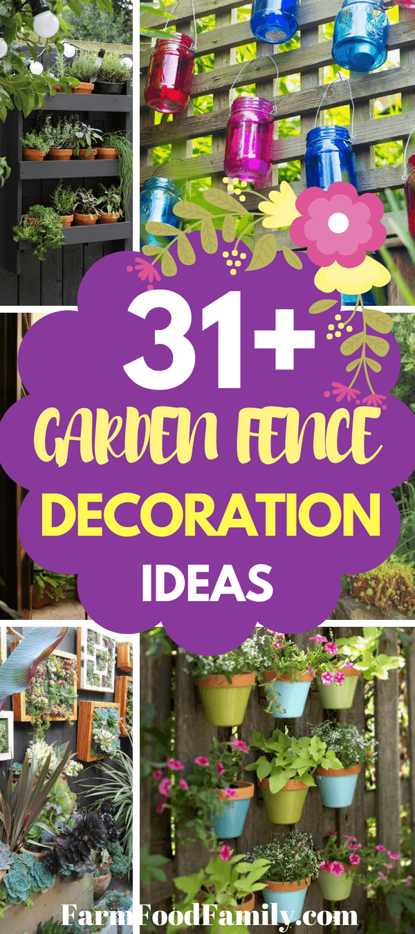There are a number of ideas for upcycling older items into garden fence décor. Window frames, with or without the glass, are a popular choice. Using a window frame on the garden fence gives the garden a charming look.