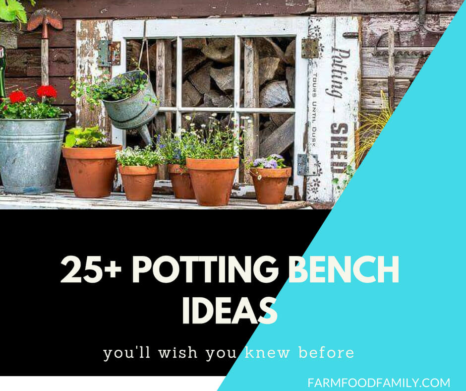 25+ Creative Potting Bench Ideas to Make Gardening More Fun
