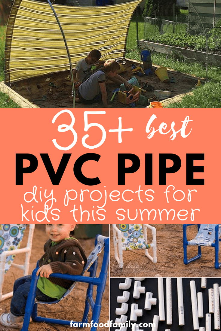 With nothing but lengths of PVC & simple connectors, DIY pipe projects for kids turn dull summer days into a chance to get creative. Like real-world building blocks, kids can use PVC to shape their own summer fun, creating water toys or tent frames, squirt guns or tables. With a little help from a grown up, the projects can get even bigger!