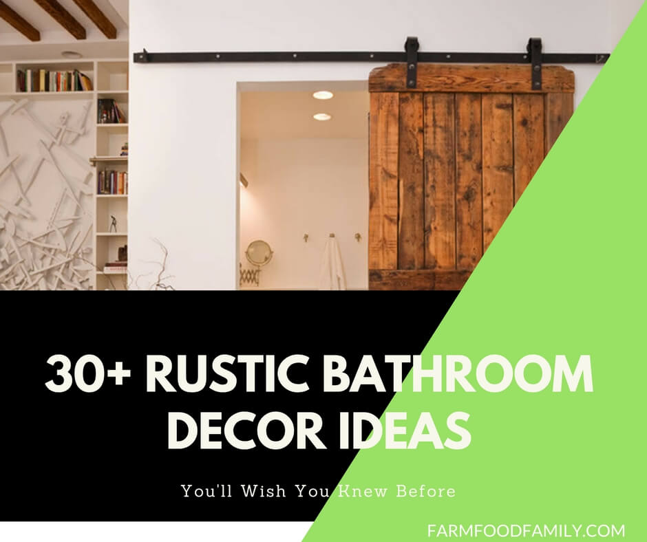 30+ Gorgeous Rustic Bathroom Decor Ideas
