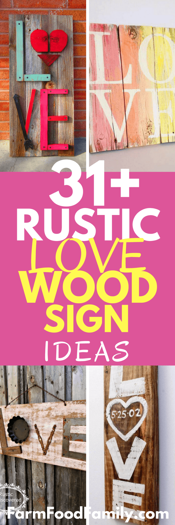 Looking for a romantic idea for your house? Check out 31 Sweet and Rustic Wooden Love Signs #homedecor #rustic #lovesigns #farmfoodfamily