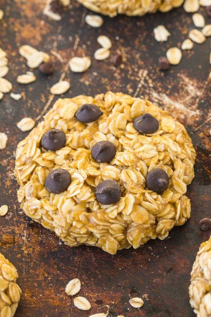 Healthy 3 Ingredient No Bake Oatmeal Cookies