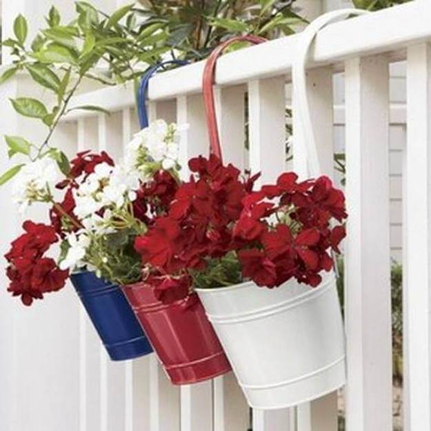 Red, White, And Blue Hanging Garden