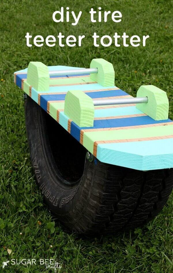A Colorful Teeter Totter for Little Ones