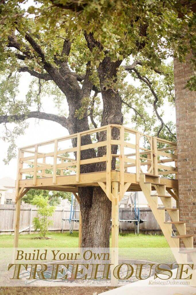 A Treehouse with Easy to Climb Stairs