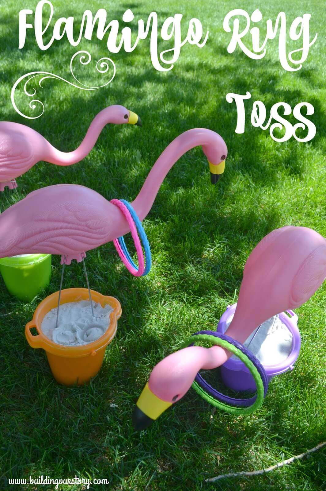 Creative Flamingo Lawn Ornament Ring Toss