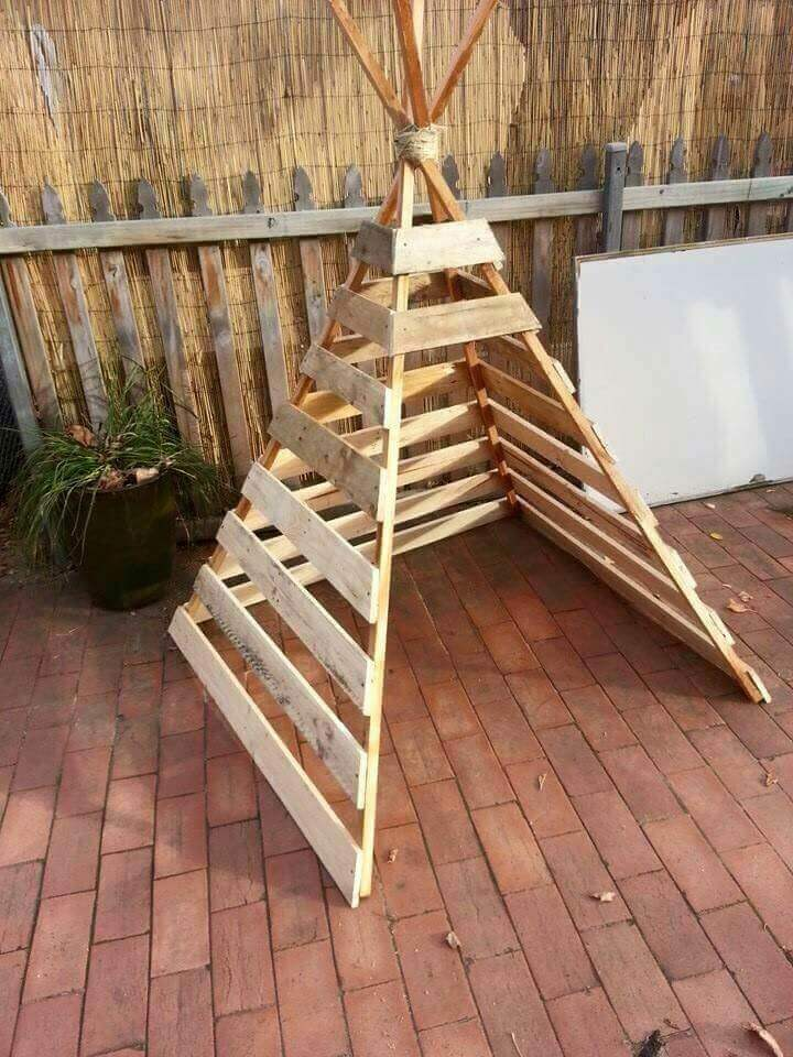 A Wooden Teepee: Shelter from the Sun