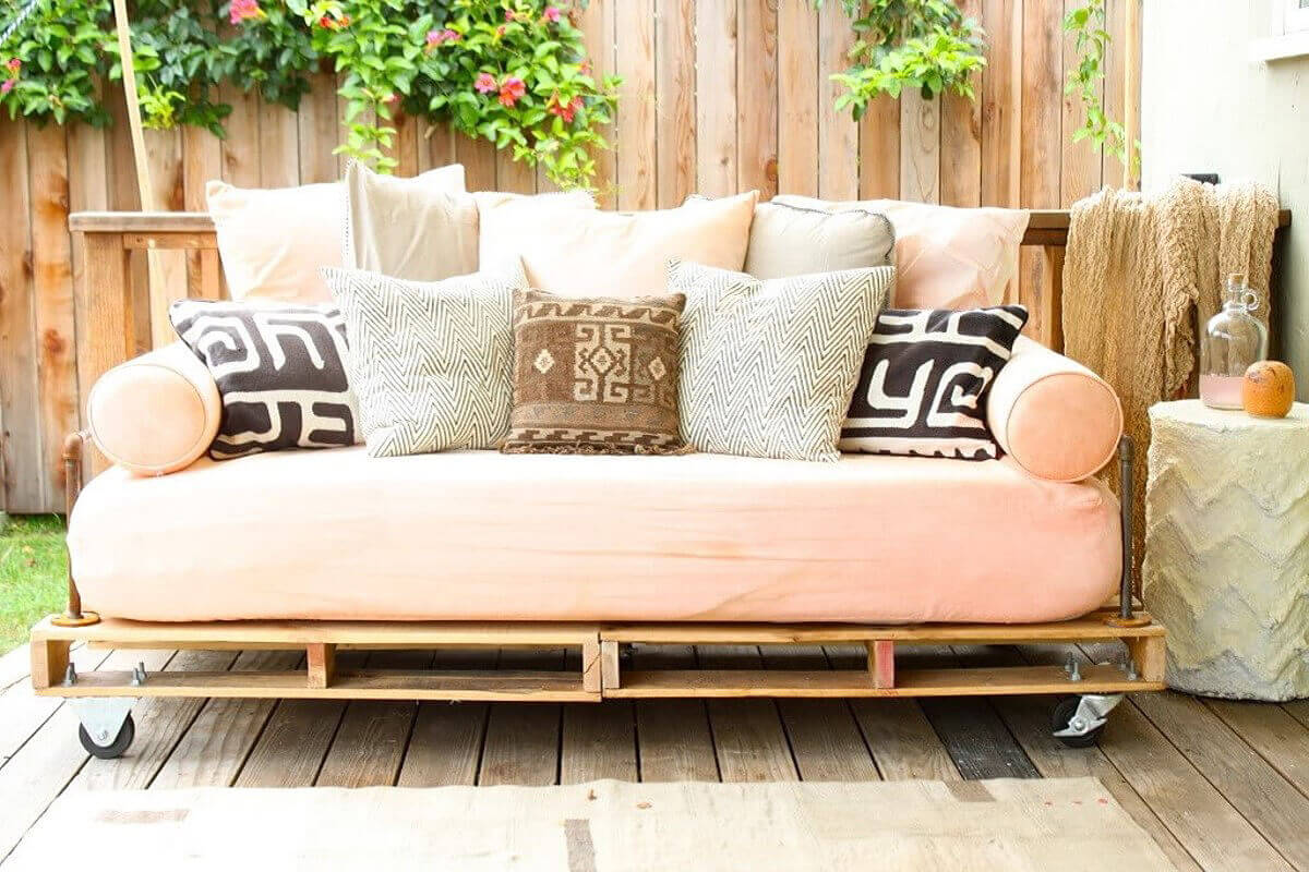 A Peach Hued Couch for Your Patio